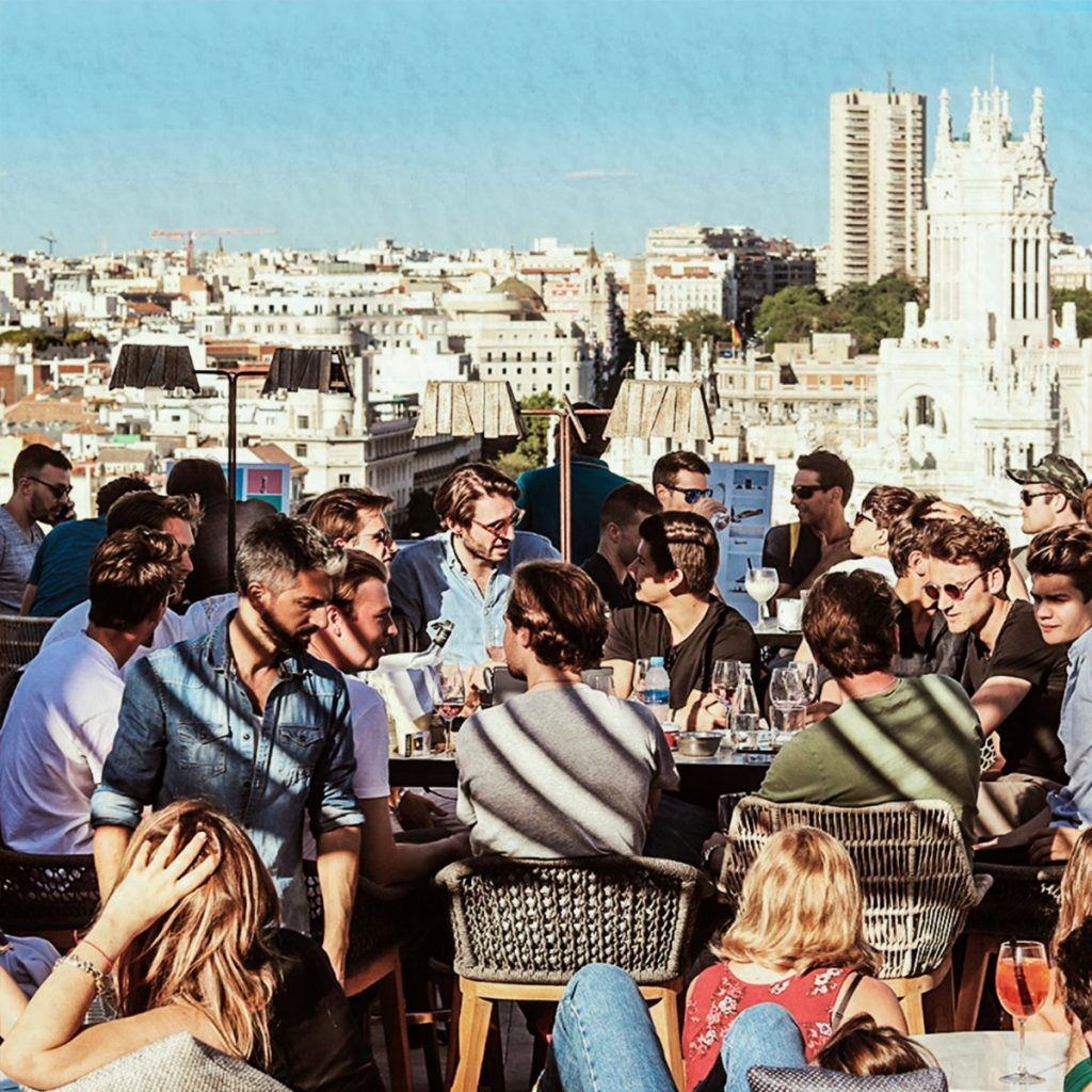 Rooftop Bar Pub Crawl Madrid