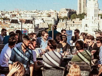 Tournée des bars sur le toit à Madrid